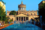 MEXICO, GUADALAJARA Cabanas Hospice and Cultural Center, built in the 18th-19th century, beyond the fountains of Plaza Tapatia