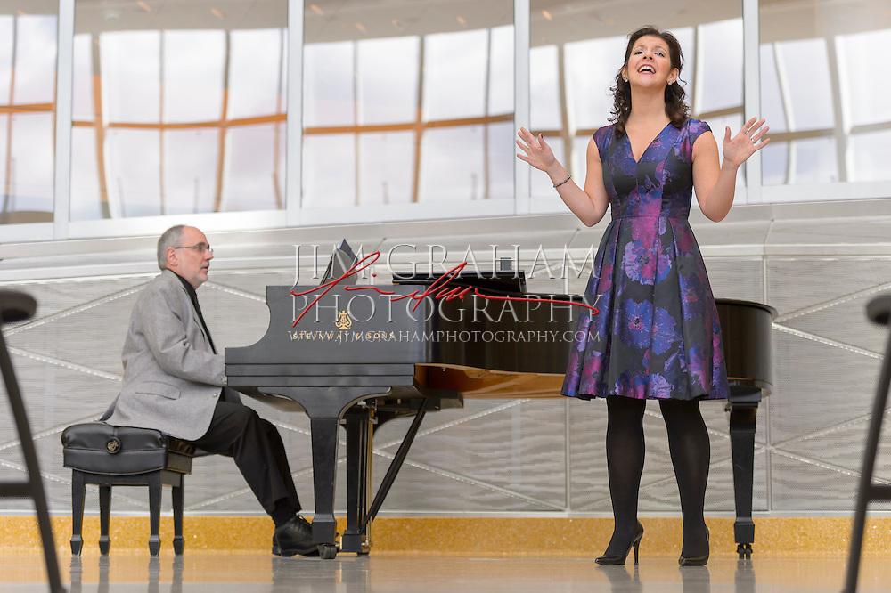 Jeffery Miller & Sharon Apostolou of Opera Delaware. (Photograph by Jim Graham)
