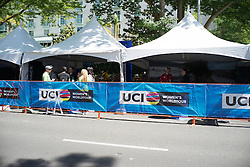 The start time was 11:40am for the fourth, 70 km road race stage of the Amgen Tour of California - a stage race in California, United States on May 22, 2016 in Sacramento, CA.
