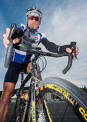 Jure Robic, Slovenian extreme cyclist and 5 times winner of Race Across America (RAAM) during his training, on May 17, 2007 in Logatec, Slovenia. Photo by Vid Ponikvar / Sportida