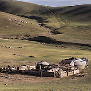 Mongolia. In the Orkhon valley, Bayamsuren family  Hakhorin -