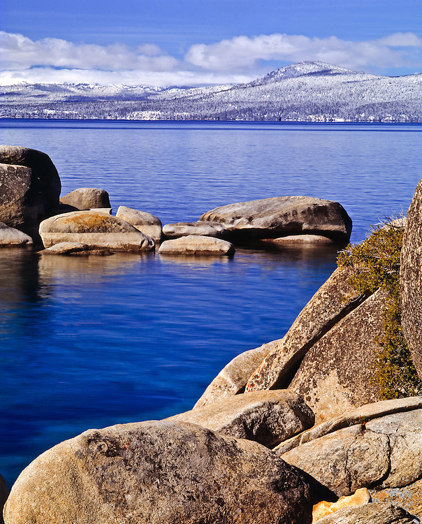 Lake Tahoe Scenic Winter Morning