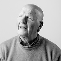 Archie Thompson, Royal Air Force, SAC, Shackleton Bomber Mechanic, 1952-1955, RAF Coastal Command, 120 Sqn Northern Ireland,   Archie is also registered blind and regularly attends the Scottish War Blinded centre. Veterans Portrait Project UK, Edinburgh, Scotland