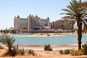 Eilat, Israel. Hotel on the artificial lagoon
