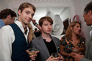 JAMES MACAUSLAN; NICK HODSON-TAYLOR; TRACEY EMIN, Party at the home of Amanda Eliasch in Chelsea after the opening of As I Like it. A memory by Amanda Eliasch and Lyall Watson. Chelsea Theatre. Worl's End. London. 4 July 2010<br /> <br />  , -DO NOT ARCHIVE-© Copyright Photograph by Dafydd Jones. 248 Clapham Rd. London SW9 0PZ. Tel 0207 820 0771. www.dafjones.com.