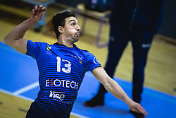 Žugić Nikola during warmup before volleyball match between Panvita Pomgrad and Šoštanj Topolšica of 1. DOL Slovenian National Championship 2019/20, on December 14, 2019 in Osnovna šola I, Murska Sobota, Slovenia. Photo by Blaž Weindorfer / Sportida
