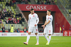 November 15, 2018 - Gdansk, Pomorze, Poland - Grzegorz Krychowiak (10) Przemyslaw Frankowski (21) during the international friendly soccer match between Poland and Czech Republic at Energa Stadium in Gdansk, Poland on 15 November 2018  (Credit Image: © Mateusz Wlodarczyk/NurPhoto via ZUMA Press)