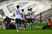 Tom Barkhuizen (29) of Preston North End FC celebrating his second goal and his team's third goal during the EFL Sky Bet Championship match between Barnsley and Preston North End at Oakwell, Barnsley, England on 21 January 2020.