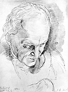 William Blake (1757-1827) in 1824 English mystic, poet, painter and engraver
