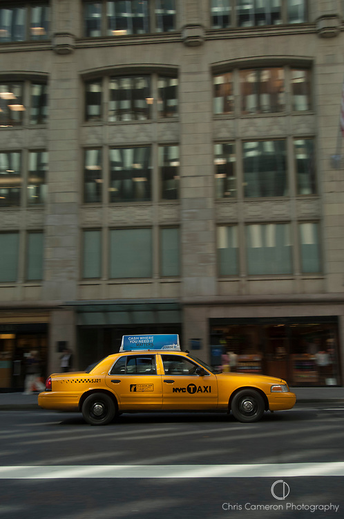 Yellow Cab taxi, Manhattan, New York
