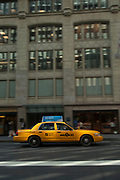 Yellow Cab taxi, Manhattan, New York