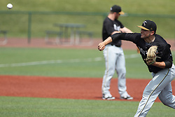 07 June 2015:     pitcher Miguel Ramirez during a Frontier League Baseball game between the Southern Illinois Miners and the Normal CornBelters at Corn Crib Stadium on the campus of Heartland Community College in Normal Illinois