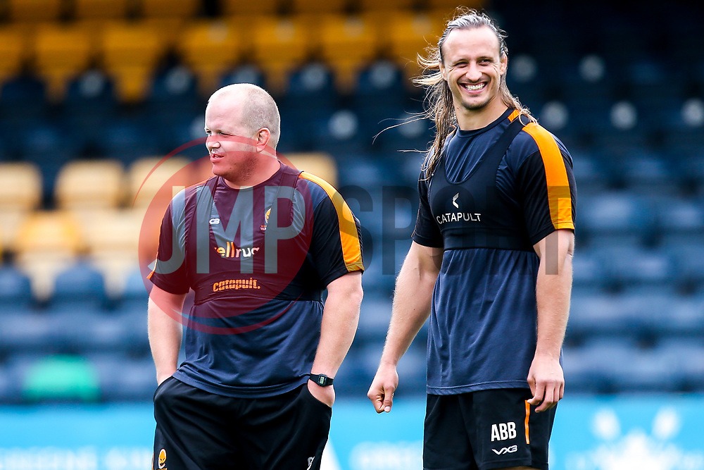 Callum Black and Anton Bresler of Worcester Warriors during preseason training ahead of the 2019/20 Gallagher Premiership Rugby season - Mandatory by-line: Robbie Stephenson/JMP - 06/08/2019 - RUGBY - Sixways Stadium - Worcester, England - Worcester Warriors Preseason Training 2019