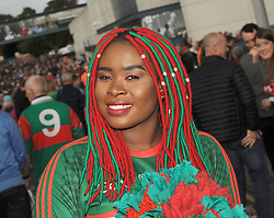 Kany Kazadi from Castlebar supporting Mayo at the All Ireland final replay<br />
