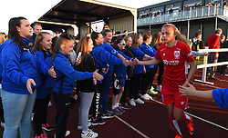 Claire Emslie of Bristol City Women returns to the pitch for the second half of the game against Manchester City Women - Mandatory by-line: Paul Knight/JMP - 09/05/2017 - FOOTBALL - Stoke Gifford Stadium - Bristol, England - Bristol City Women v Manchester City Women - FA Women's Super League Spring Series