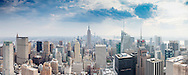 The Empire State building and midtown Manhattan, New York seen from the Top of the Rock at the Rockefeller Centre. <br /> Picture date: Saturday September 10, 2016.<br /> Photograph by Christopher Ison &copy;<br /> 07544044177<br /> chris@christopherison.com<br /> www.christopherison.com<br /> Image provided to Cunard Line PR Department for unlimited global use.