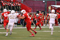 03 September 2016:  Anthony Warrum works on a run back. NCAA FCS Football game between Valparaiso Crusaders and Illinois State Redbirds at Hancock Stadium in Normal IL (Photo by Alan Look)