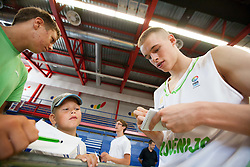 Klemen Prepelic during Open day of Slovenian U20 National basketball team before the European Chmpionship in Slovenia, on July 9, 2012 in Domzale, Slovenia.  (Photo by Vid Ponikvar / Sportida.com)