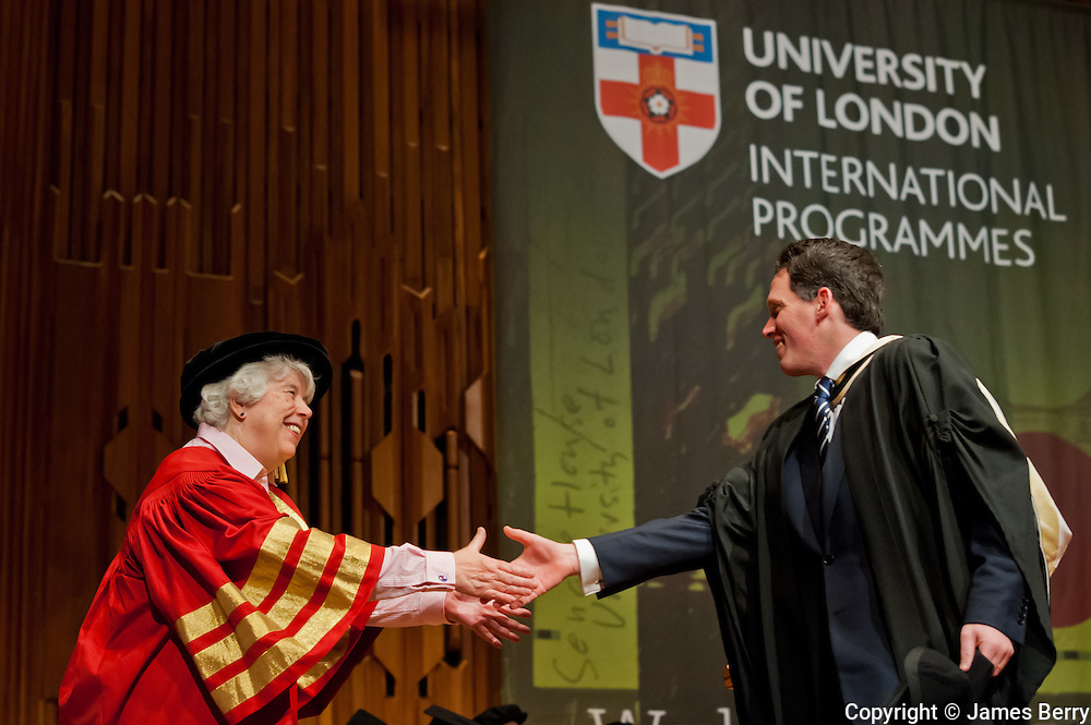 University of London International Programmes Graduation Ceremony 2013. Barbican Centre, London. Tuesday 19 March 2013.