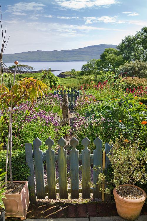 The potager garden at Lip na Cloiche Garden & Nursery, Isle of Mull (Lucy Mackenzie Panizzon), Scotland