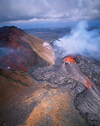 Kilauea Volcano, Hawaii Volcanoes National Park, Island of Hawaii, Hawaii, USA<br />