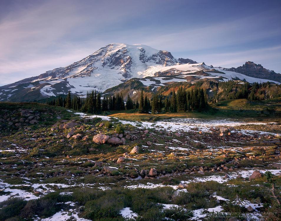 Mount Rainier 14,411 ft (4,392m) from Mazama Ridge, Mount Rainier National Park