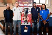 cancelllieri lechthaler okeke moss<br /> presentazioe supercoppa 2018<br /> Legabasket Serie A 2018/19<br /> Brescia, 24/09/2018<br /> Ciamillo-Castoria
