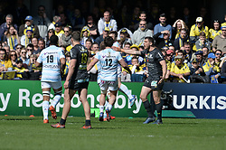 April 1, 2018 - Clermont Ferrand - Stade Marcel, France - Deception de Remy Grosso  (asm) - Joie de Louis Depichot et de ses coequipiers  (Credit Image: © Panoramic via ZUMA Press)