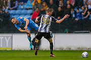 Coventry City defender Liam Kelly (6) is fouled by Notts County forward Jonathan Stead (30)  during the EFL Sky Bet League 2 match between Coventry City and Notts County at the Ricoh Arena, Coventry, England on 12 May 2018. Picture by Simon Davies.