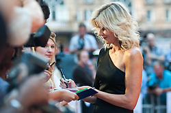 Linda Barker signs autographs during the world premiere of Diana, in London, Thursday, 5th September 2013. Picture by Piero Cruciatti / i-Images