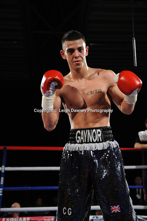 Chad Gaynor celebrates his defeat over Kristian Laight - 22nd January 2011 at Doncaster Dome, Doncaster - Frank Maloney Promotions. Credit © Leigh Dawney.