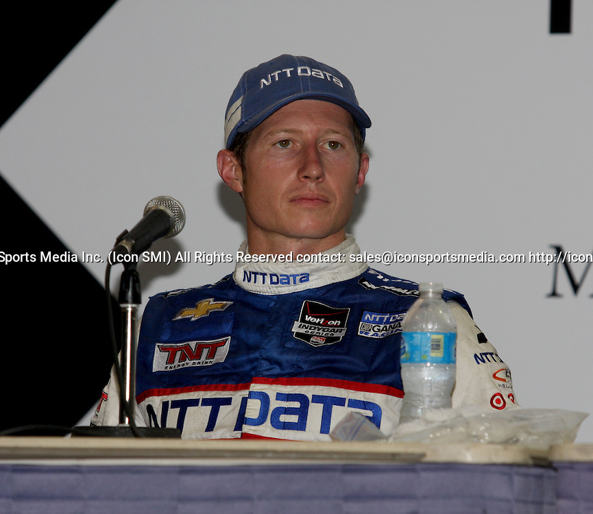 June 27, 2014: Ryan Briscoe during a press conference for the IndyCar Series Grand Prix of Houston at MD Anderson Cancer Center Speedway in Houston, TX.