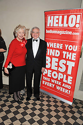 CAROLINE NEVILLE and JOE McCARTHY at the Red & Black Valentine's Dinner & Dance in aid of The Eve Appeal at One Mayfair, North Audley Street, London W1 on 14th February 2013.