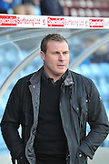 David Flitcroft manager of Bury during the Sky Bet League 1 match between Scunthorpe United and Bury at Glanford Park, Scunthorpe, England on 19 April 2016. Photo by Ian Lyall.
