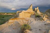 Badlands sandstone formations, Theodore Rossevelt National Park, North Dakota