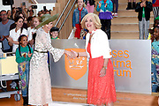 Koningin Maxima tijdens de opening van het Prinses Maxima Centrum voor Kinderoncologie. Queen Maxima during the opening of the Princess Maxima Center for Pediatric Oncology.