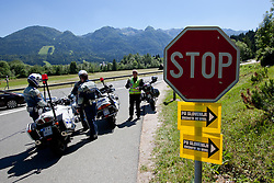 Policeman and motor driver Ivek during 3rd Stage (219 km) at 19th Tour de Slovenie 2012, on June 16, 2012, in Skofja Loka, Slovenia. (Photo by Matic Klansek Velej / Sportida.com)