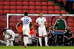 Harry Kane of England prepares to come on as a substitute - Photo mandatory by-line: Matt McNulty/JMP - Mobile: 07966 386802 - 11/06/2015 - SPORT - Football - Barnsley - Oakwell Stadium - England U21 v Belarus U21 - International Friendly U21s