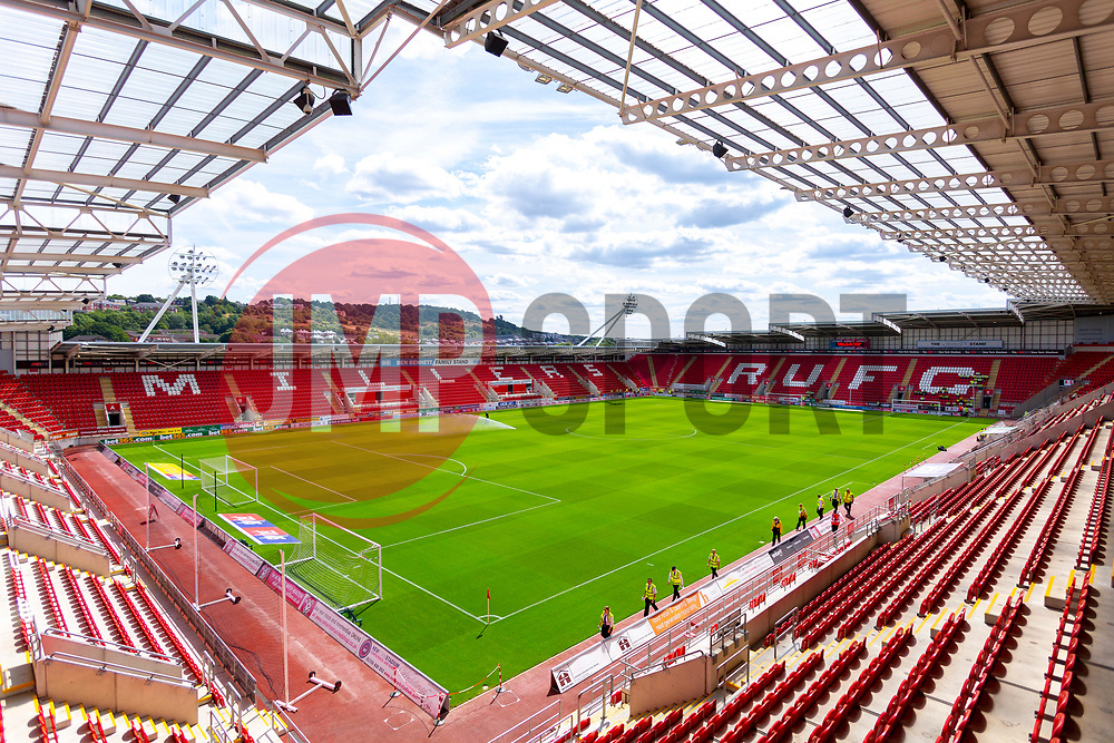 A general view of the Aesseal New York Stadium - Mandatory by-line: Ryan Crockett/JMP - 11/08/2018 - FOOTBALL - Aesseal New York Stadium - Rotherham, England - Rotherham United v Ipswich Town - Sky Bet Championship