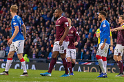 Uche Ikpeazu of Hearts during the Betfred Scottish League Cup semi-final match between Rangers and Heart of Midlothian at Hampden Park, Glasgow, United Kingdom on 3 November 2019.