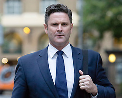 © Licensed to London News Pictures. 15/10/2015. London, UK. CHRIS CAIRNS arrives at Southwark Crown Court in London for the Chris Cairns trial. The former New Zealand cricketer, Chris Cairns is currently in court on charges of perjury and perverting the course of justice while his Barrister Andrew Fitch-Holland denies one count of perverting the course of justice. Photo credit : Vickie Flores/LNP