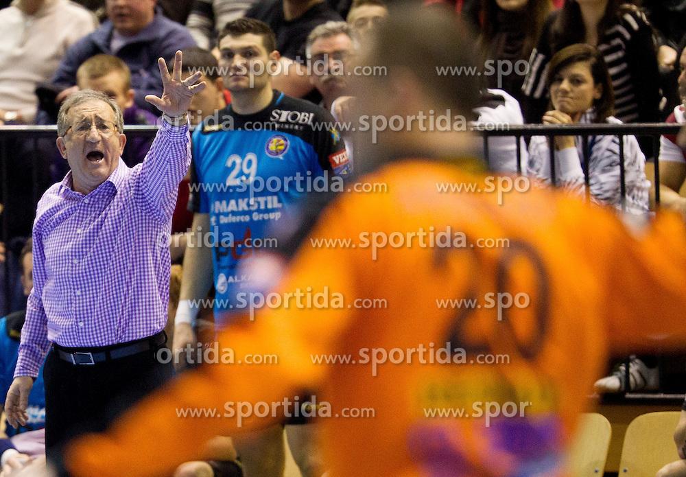 Lino Cervar, head coach of Metalurg during handball match between RK Gorenje Velenje (SLO) vs RK Metalurg Skopje (MKD) in 8th Round of Group C of EHF Champions League 2012/13 on February 9, 2013 in Red hall, Velenje, Slovenia. (Photo By Vid Ponikvar / Sportida)