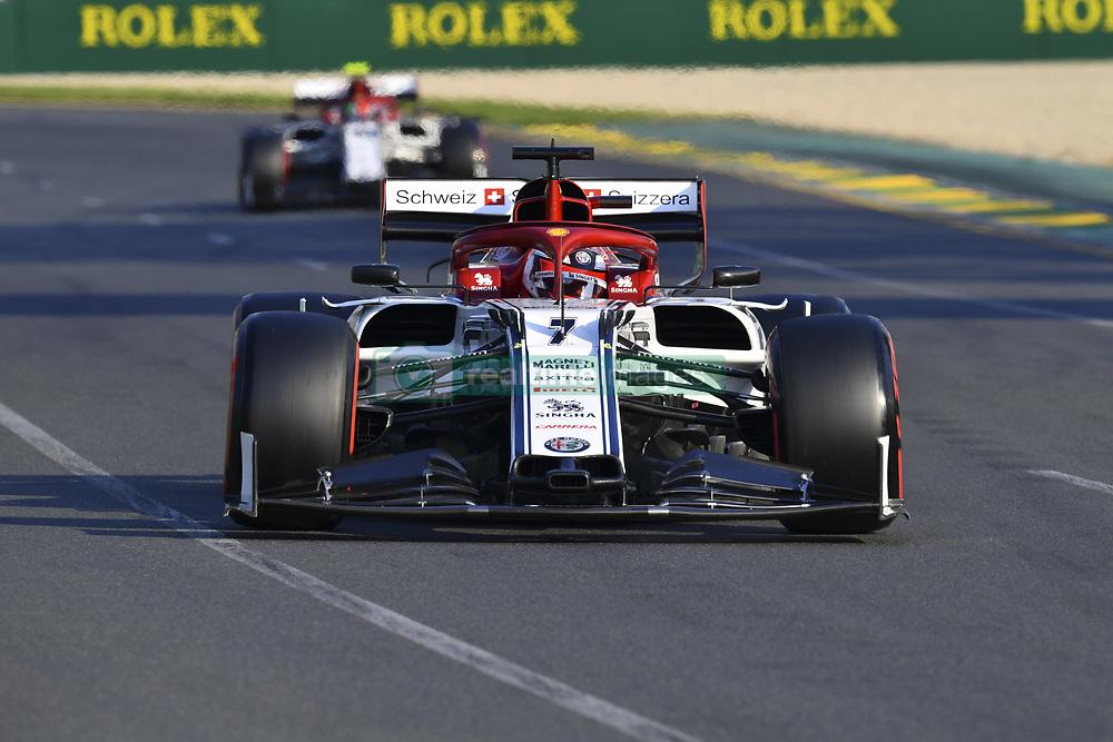 March 16, 2019 - Melbourne, Australia - Motorsports: FIA Formula One World Championship 2019, Grand Prix of Australia, ..#7 Kimi Raikkonen (FIN, Alfa Romeo Racing) (Credit Image: © Hoch Zwei via ZUMA Wire)