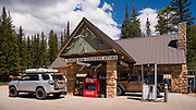 Just a few miles from the entrance to the North Rim of Grand Canyon National Park is The North Rim Country Store. The store is a popular place to fill up on gasoline, grab some snacks, and purchase North Rim themed memorabilia.
