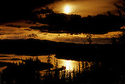 Sunset along the Yukon River<br /> Five Finger Rapids<br /> Yukon<br /> Canada