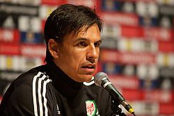 DINARD, FRANCE - Friday, July 8, 2016: Wales' manager Chris Coleman during a press conference at their base in Dinard during the UEFA Euro 2016 Championship. (Pic by Paul Greenwood/Propaganda)