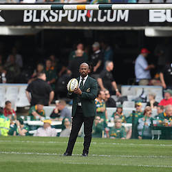 DURBAN, SOUTH AFRICA, 8 October, 2016 - Mzwandile Stick (Assistant Coach backline) of South Africa during the Rugby Championship match between South Africa and New Zealand at Kings Park in Durban, South Africa. (Photo by Steve Haag)