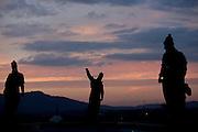 Congonhas_MG, Brasil.<br /> <br /> Escultura de Aleijadinho (Antonio Francisco Lisboa) no Santuario de Bom Jesus do Matozinhos em Congonhas. <br /> <br /> The Aleijadinho (Antonio Francisco Lisboa) sculpture in the sanctuary of Bom Jesus do Matozinhos in Congonhas.<br /> <br /> Fotos: MARCUS DESIMONI / NITRO