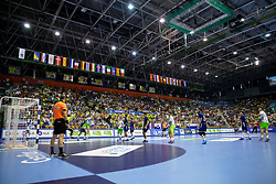 Arena Zlatorog during handball match between National teams of France and Slovenia in Final of 2018 EHF U20 Men's European Championship, on July 29, 2018 in Arena Zlatorog, Celje, Slovenia. Photo by Urban Urbanc / Sportida
