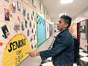 HSPVA senior and theater major Jorge Cordova on his last first day of school.